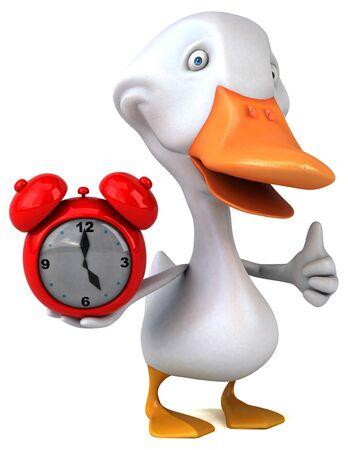 Fun duck - 3D Illustration Stock Illustration - 125211902