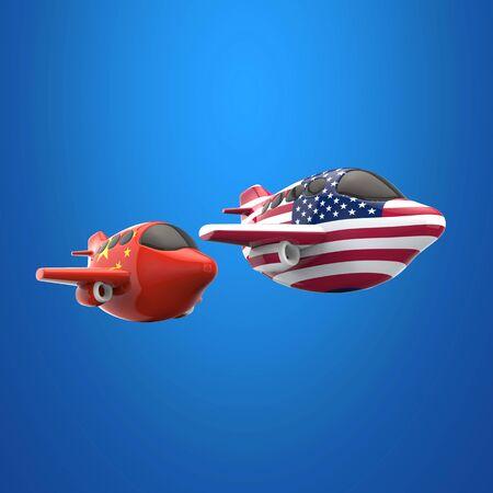 Plane and transport concept - 3D Illustration