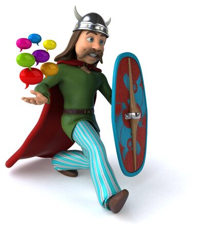 Fun Gaul - 3D Illustration 스톡 콘텐츠