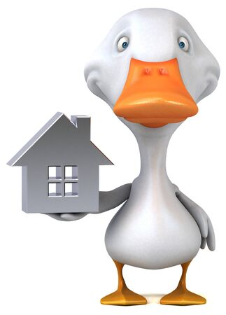 Fun duck - 3D Illustration Foto de archivo - 128112927