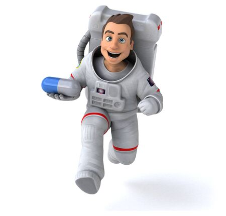 Fun astronaut - 3D Illustration
