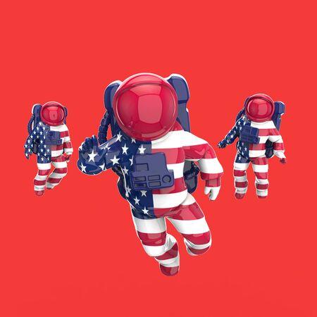 Astronaut concept - 3D Illustration 版權商用圖片