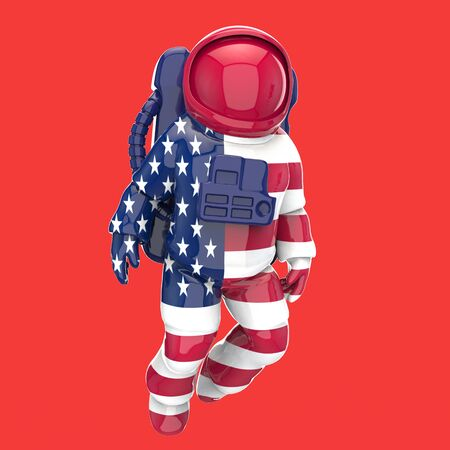 Astronaut concept - 3D Illustration Foto de archivo - 128880305