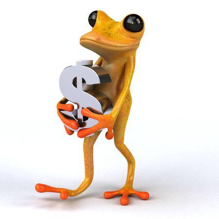 Fun frog- 3D Illustration Stock Illustration - 128217426