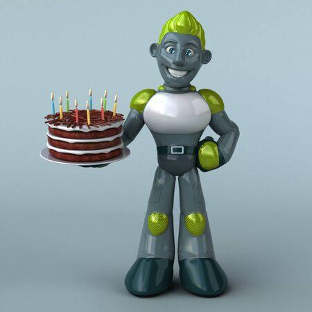 Green Robot - 3D Illustration