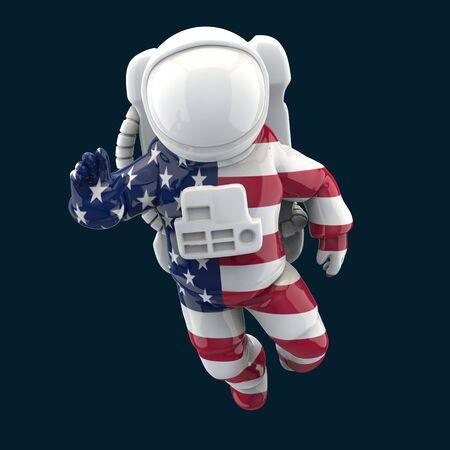 Astronaut concept - 3D Illustration Foto de archivo - 128880358