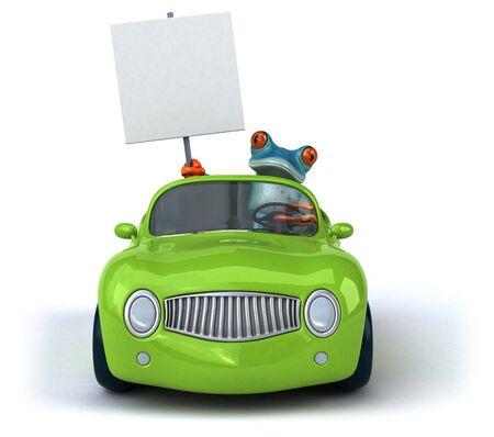 Fun frog- 3D Illustration Stock Illustration - 128247029
