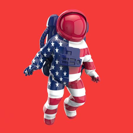 Astronaut concept - 3D Illustration Foto de archivo - 128880364