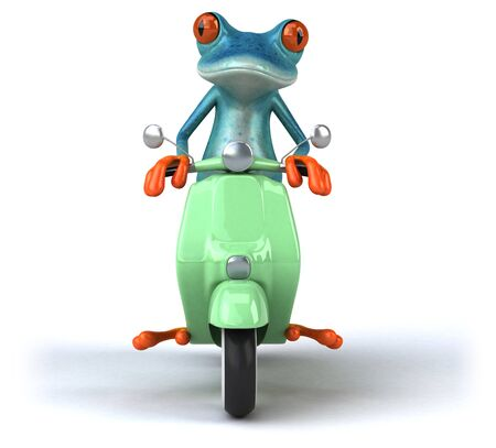Fun frog- 3D Illustration Stock Illustration - 128247034