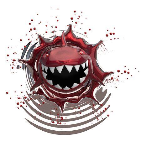 Shark concept - 3D Illustration Stock Photo