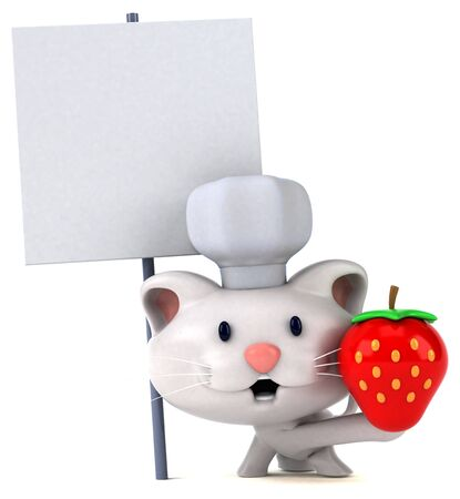 Fun cat - 3D Illustration 写真素材