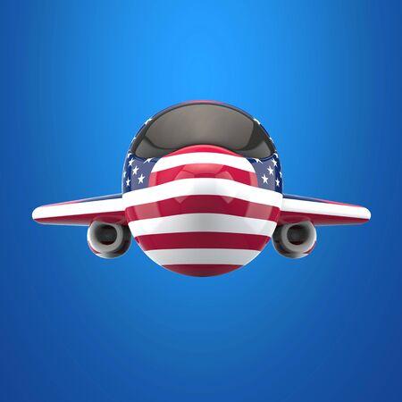 Plane and transport concept - 3D Illustration Reklamní fotografie