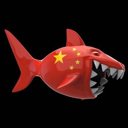 Shark concept - 3D Illustration Reklamní fotografie