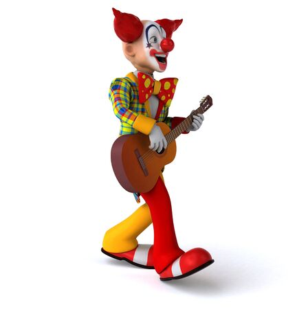Fun clown - 3D Illustration 스톡 콘텐츠