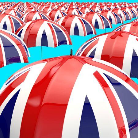 Umbrella concept - 3D Illustration 版權商用圖片