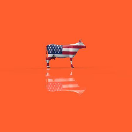 Cow concept - 3D Illustration Reklamní fotografie