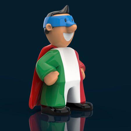 Superhero concept - 3D Illustration 版權商用圖片