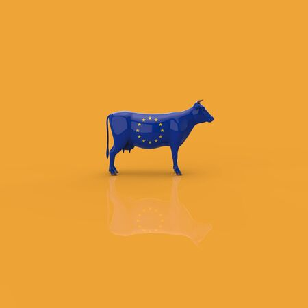 Cow concept - 3D Illustration 스톡 콘텐츠