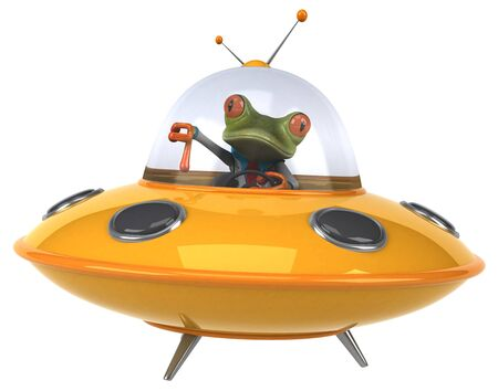 Fun frog - 3D Illustration Фото со стока - 128716945