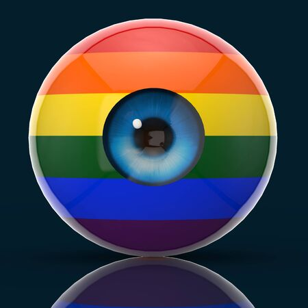Surveillance concept - 3D Illustration Фото со стока - 128721443