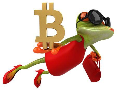 Fun frog - 3D Illustration Zdjęcie Seryjne - 128721465