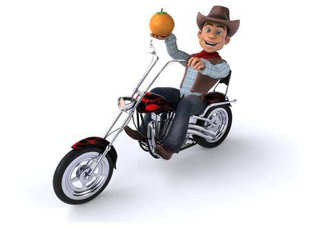 Fun Cowboy - 3D Illustration Standard-Bild - 129040350