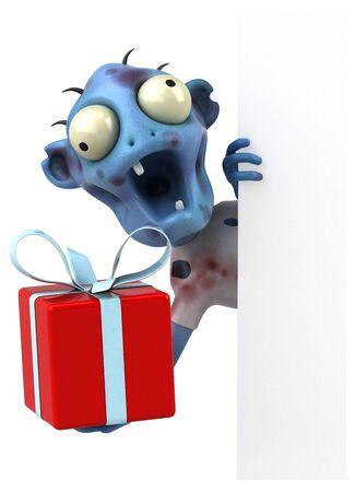 Fun zombie - 3D Illustration 版權商用圖片