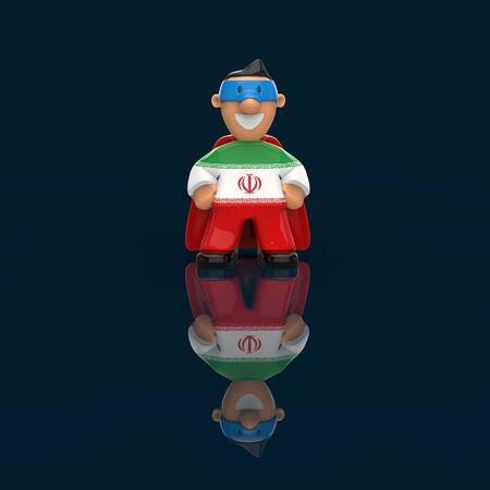 Superhero concept - 3D Illustration 스톡 콘텐츠
