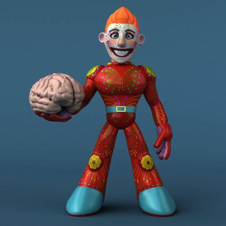Mexican hero - 3D Illustration Фото со стока - 129106995