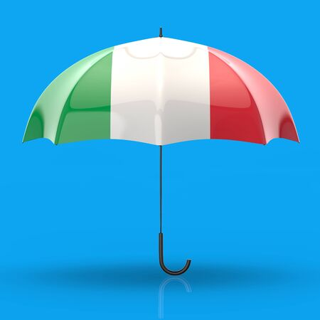 Umbrella concept - 3D Illustration Stock Illustration - 129107022