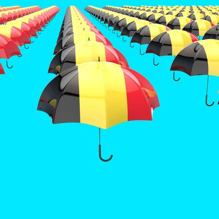 Umbrella concept - 3D Illustration Stock Illustration - 129108539
