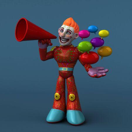 Mexican hero - 3D Illustration Фото со стока - 129109246