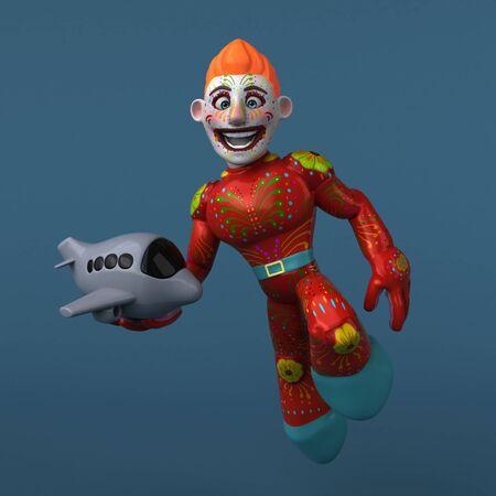 Mexican hero - 3D Illustration Фото со стока - 129109905