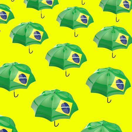Umbrella concept - 3D Illustration Stock Illustration - 129112514