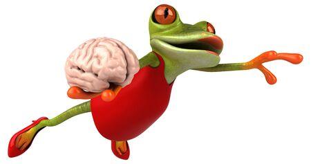 Fun frog - 3D Illustration Banque d'images - 129113660