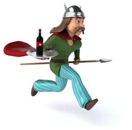 Fun Gaul - 3D Illustration Фото со стока
