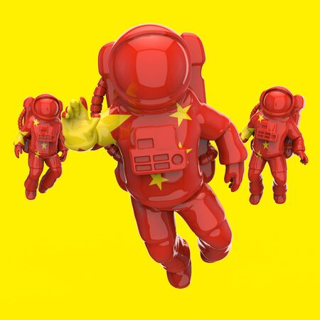 Astronaut concept - 3D Illustration Stok Fotoğraf