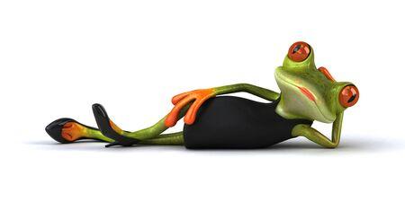 Fun frog - 3D Illustration Banque d'images - 129114942