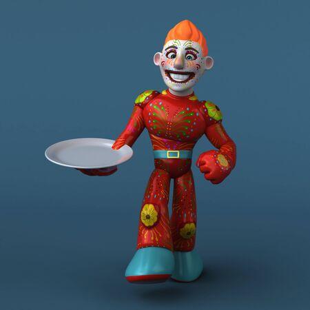 Mexican hero - 3D Illustration Фото со стока - 129116234