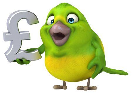 Fun bird - 3D Illustration Imagens