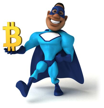 Fun superhero - 3D Illustration Stockfoto