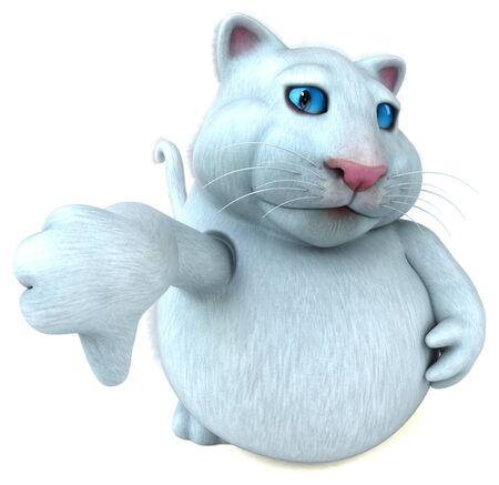 Fun cat - 3D Illustration Фото со стока - 129124486