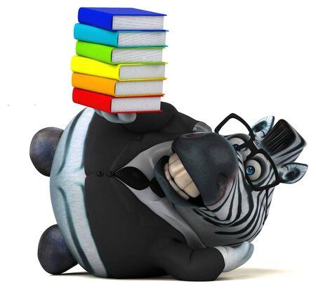 Fun zebra - 3D Illustration Stockfoto