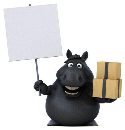 Fun horse - 3D Illustration Reklamní fotografie