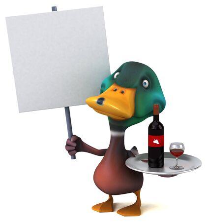 Fun duck - 3D Illustration Zdjęcie Seryjne - 129232930