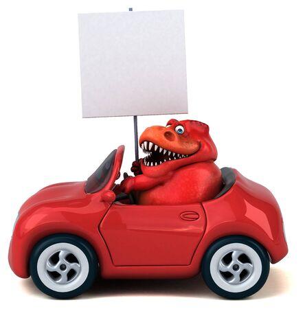 Fun Trex - 3D Illustration