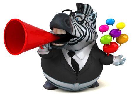 Fun zebra - 3D Illustration Stok Fotoğraf
