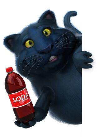 Fun cat - 3D Illustration Фото со стока - 129233743