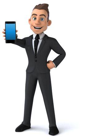 Fun business man - 3D Illustration