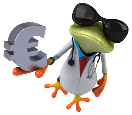 Frog doctor - 3D Illustration